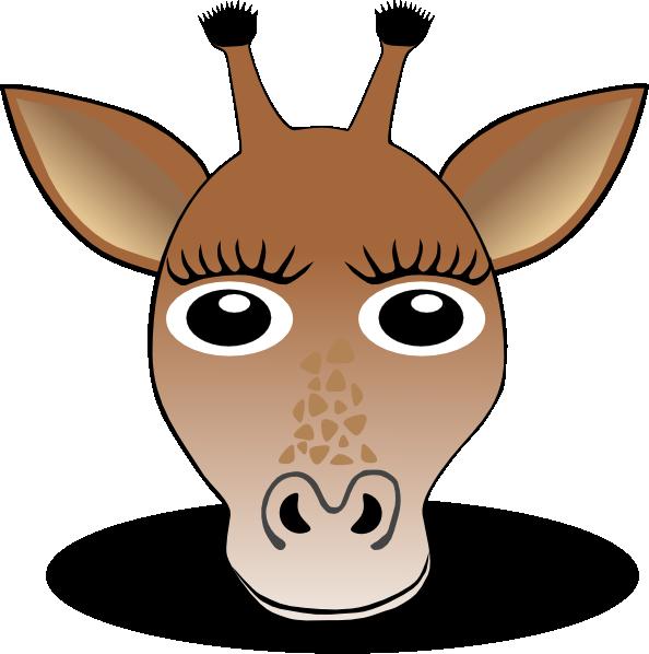 Face clip art at. Ears clipart giraffe