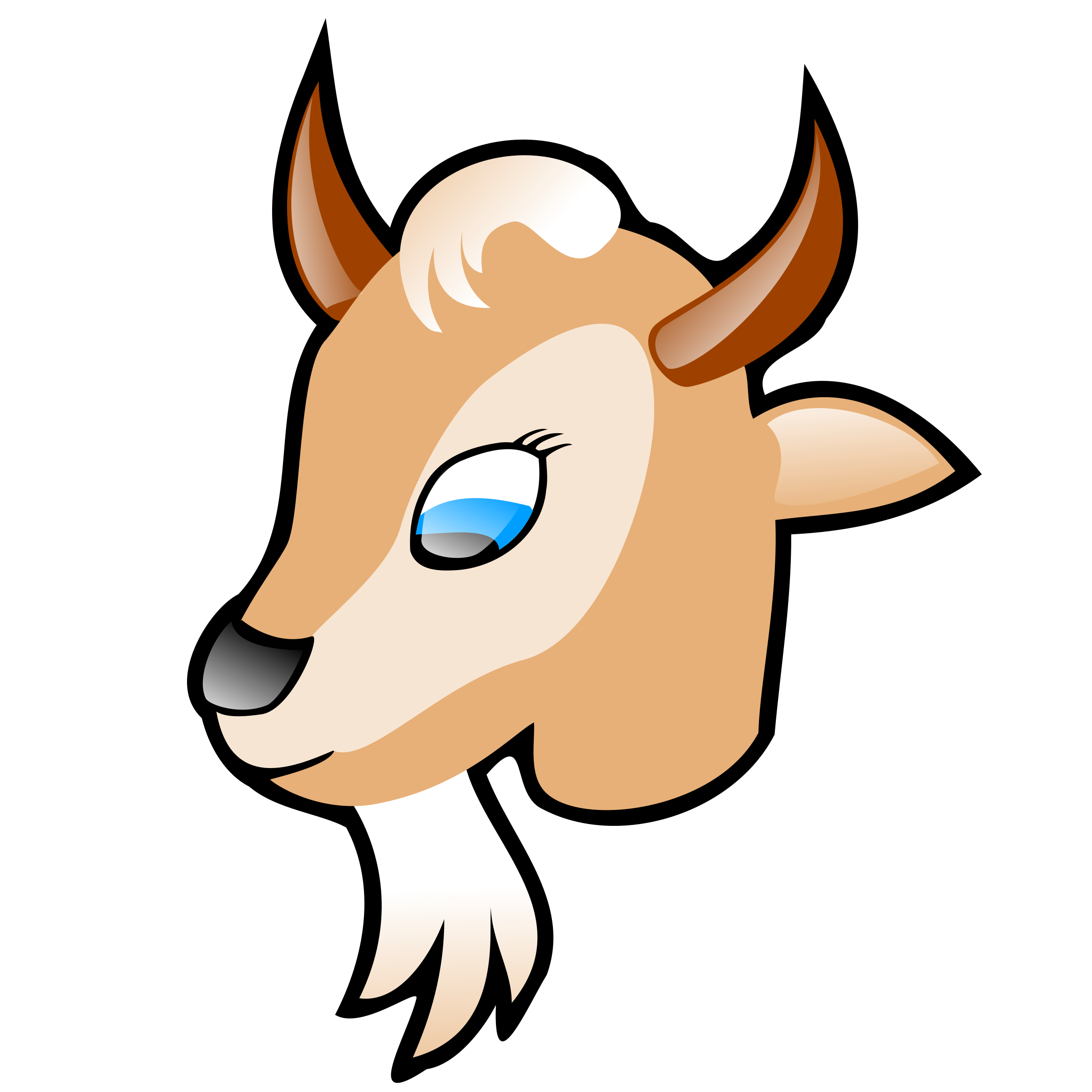 Goat head big image. Horn clipart yellow