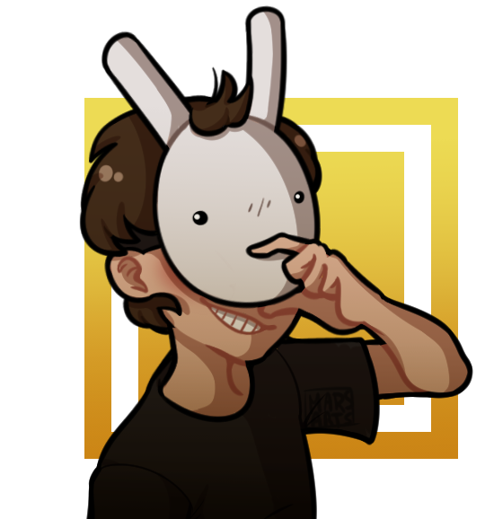 Original character dan the. Clipart ear hand over