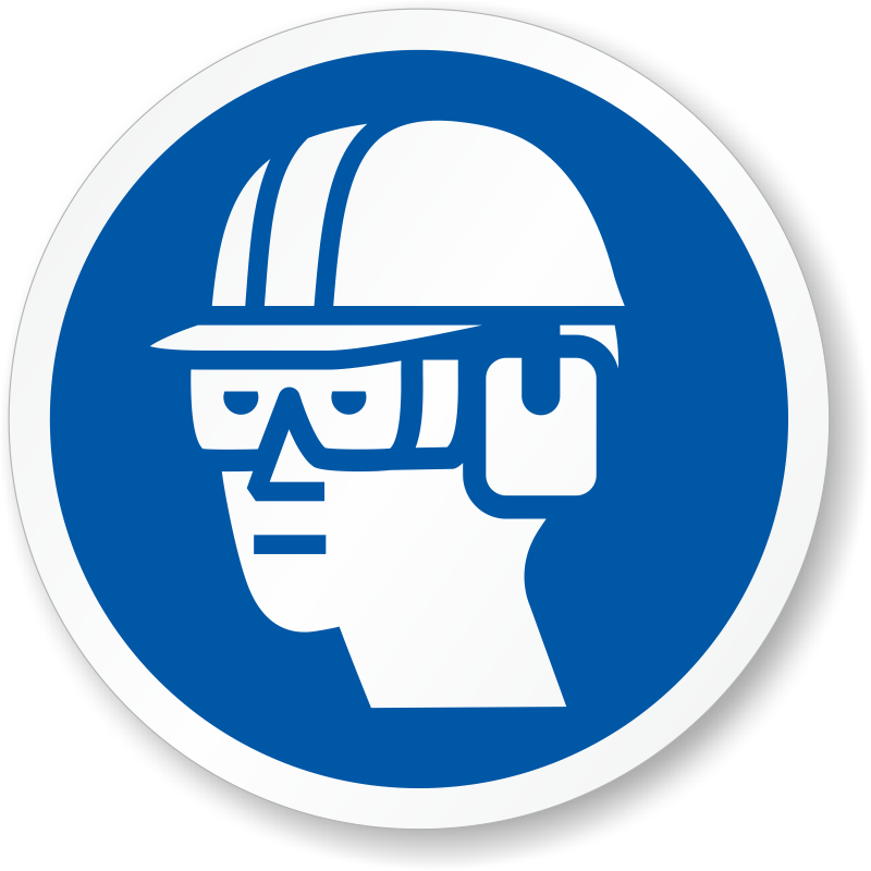 Electrician clipart hard hat worker. Goggles ear muffs iso