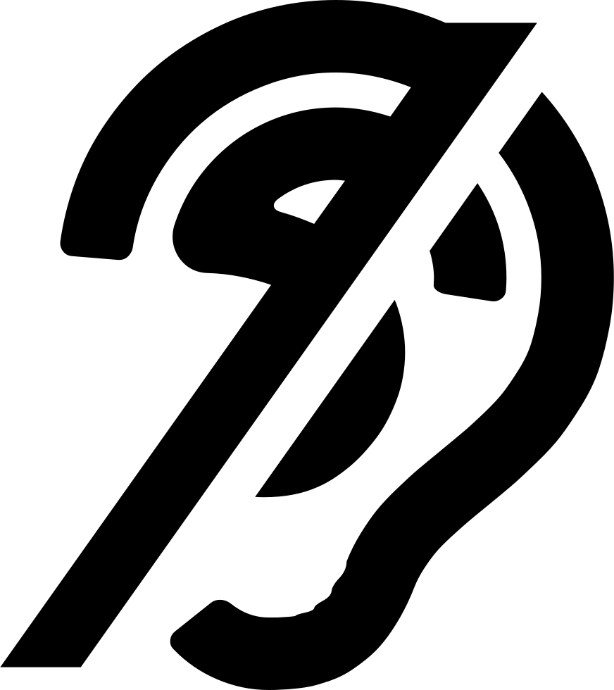 Clipart ear icon. Deaf svg png free