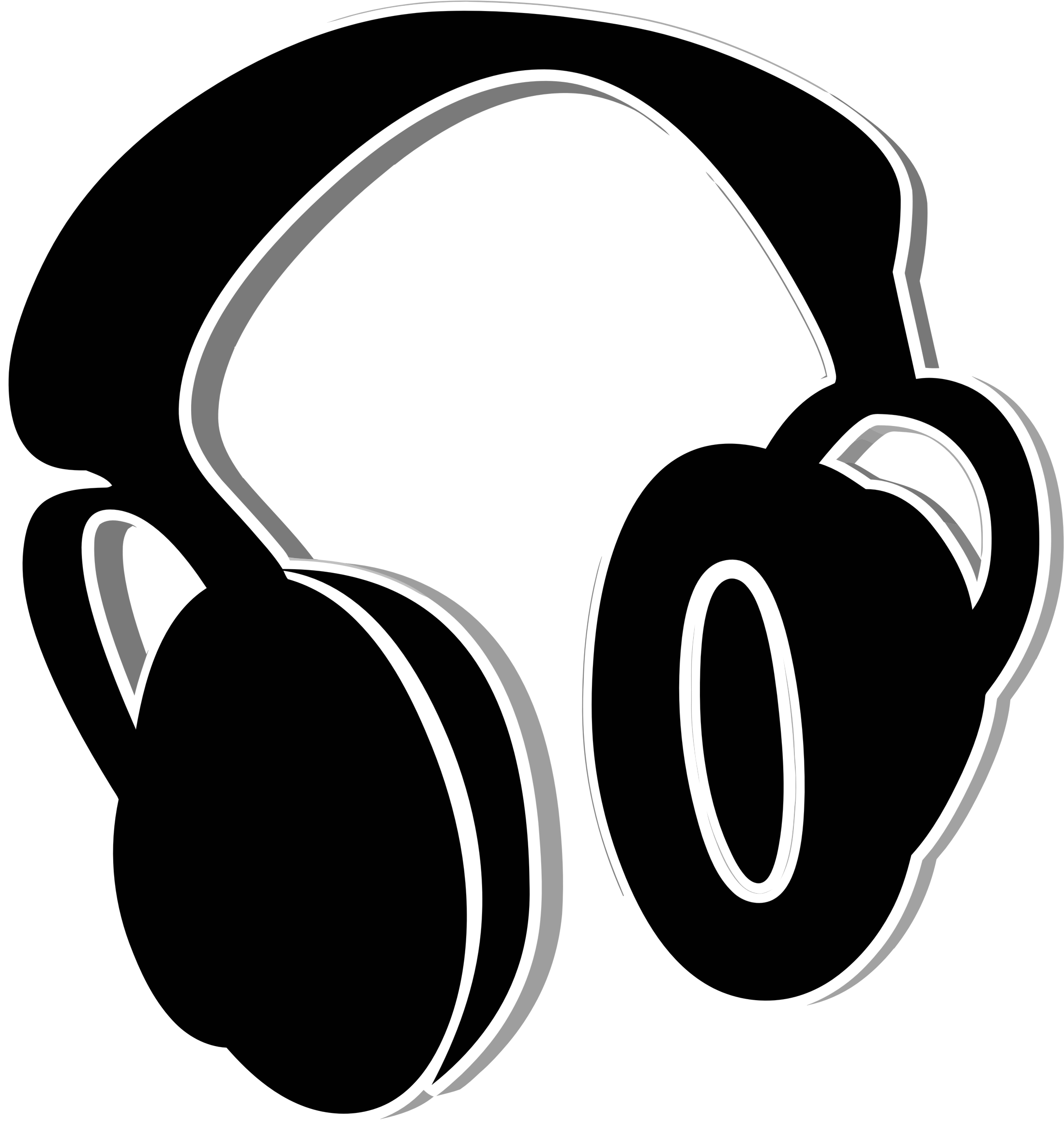 Icon icons png free. Listen clipart headphones