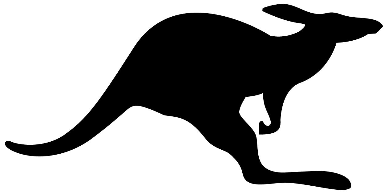 kangaroo clipart stencil