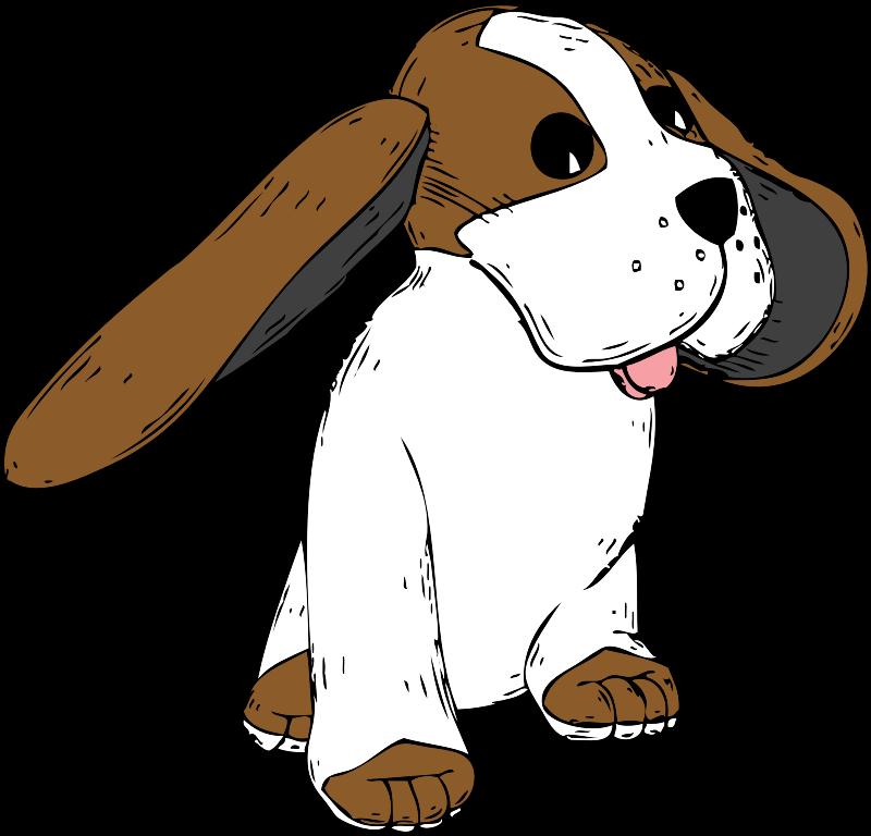 Big earred dog medium. Moving clipart ear
