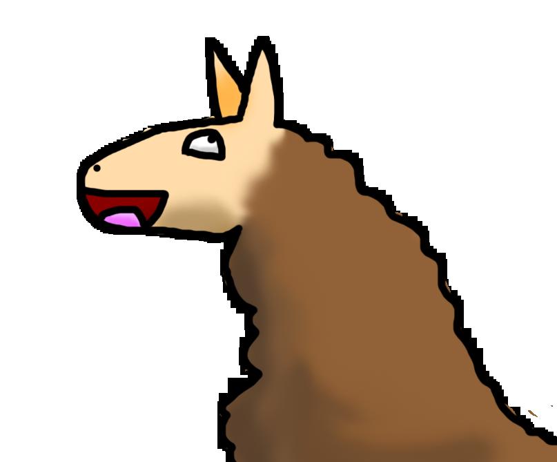 Happy llama by arceus. Fat clipart sad