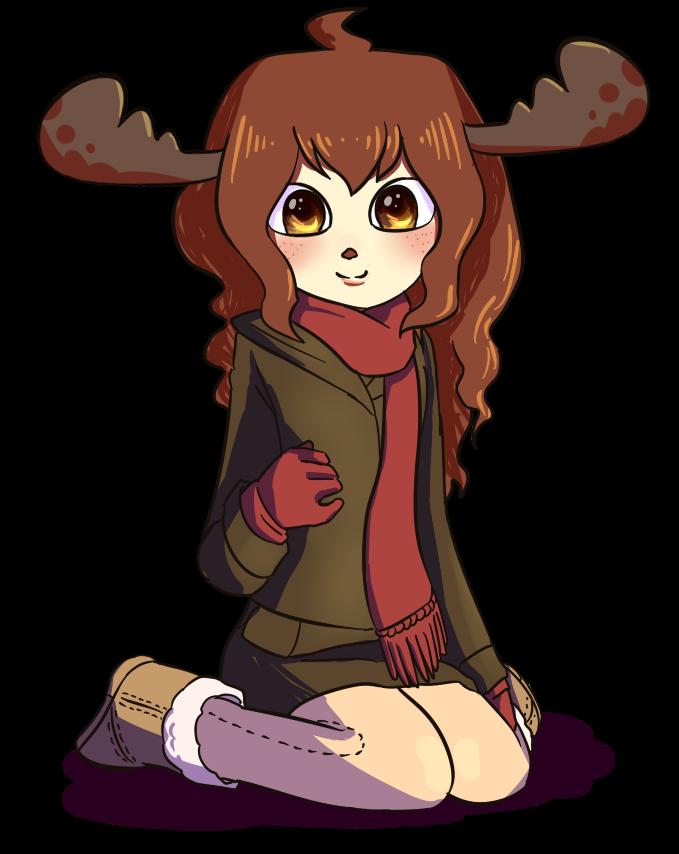 Moose clipart girl moose. By knightaur on deviantart