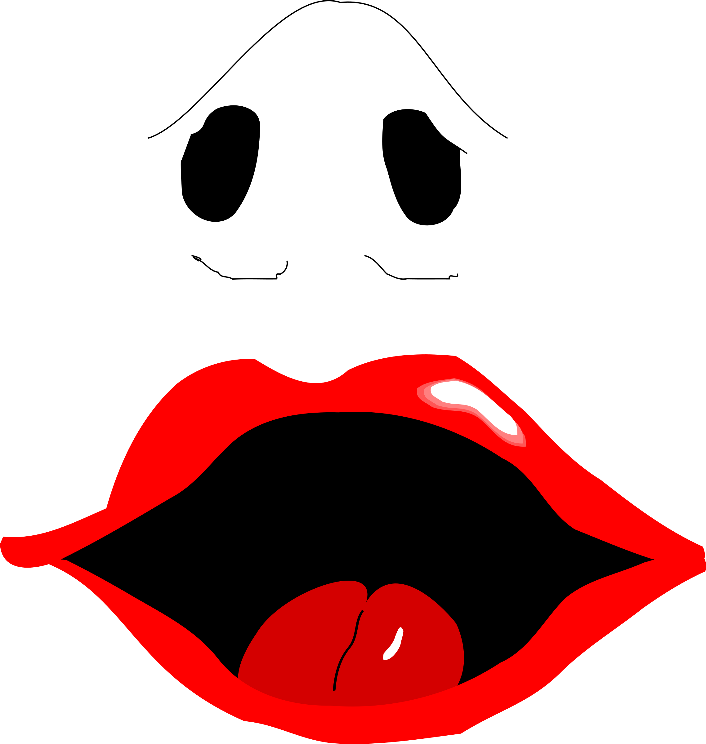 collection of mouth. Lips clipart nose