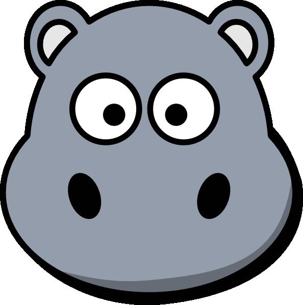Clipart hippo mask. Head no mouth clip