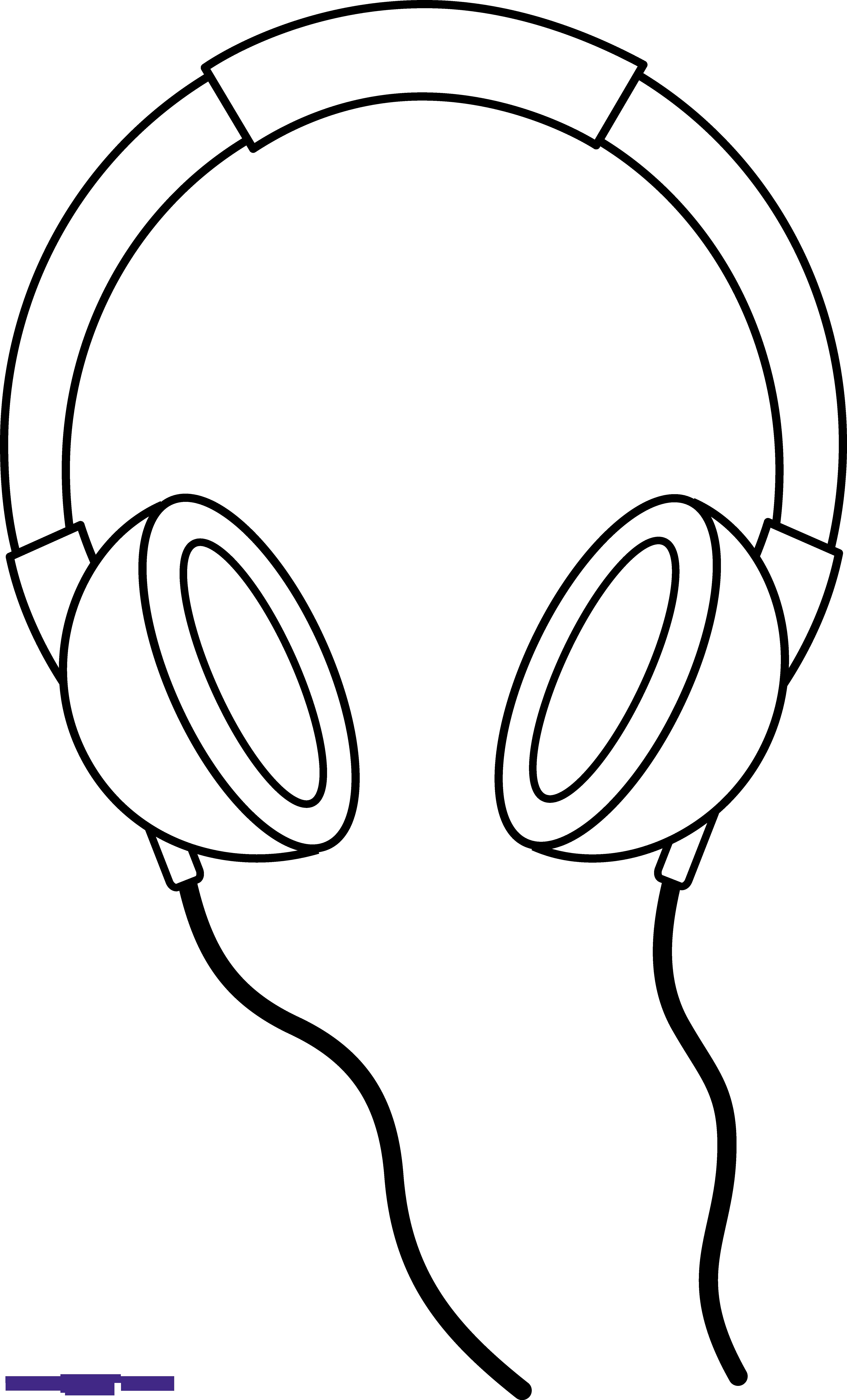 Headphone clipart black and white. Headphones line art sweet