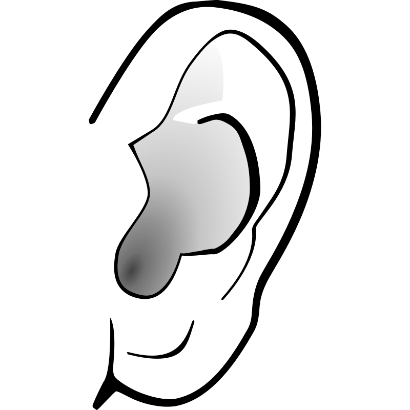 E clipart ear.  collection of images