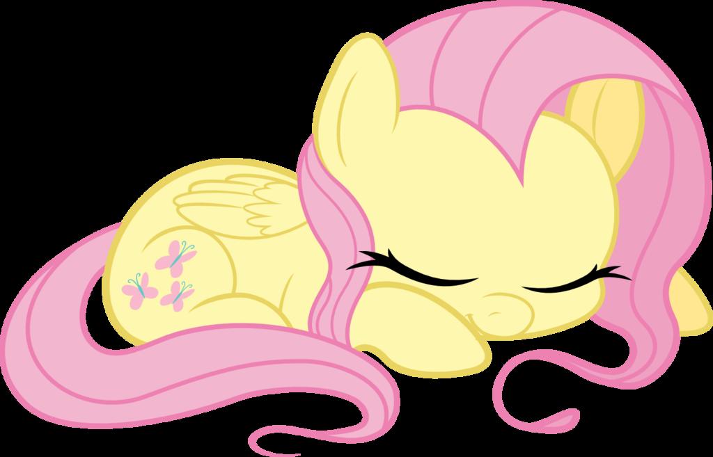 Fluttershy is sleeping by. Ears clipart overheard