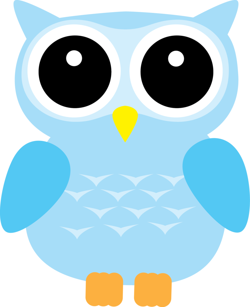 Pastel blue ears by. Writer clipart owl
