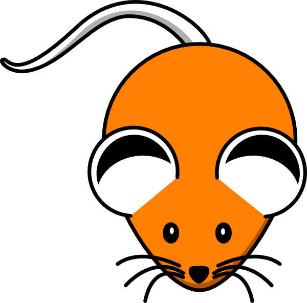 Orange mouse black ears. E clipart ear