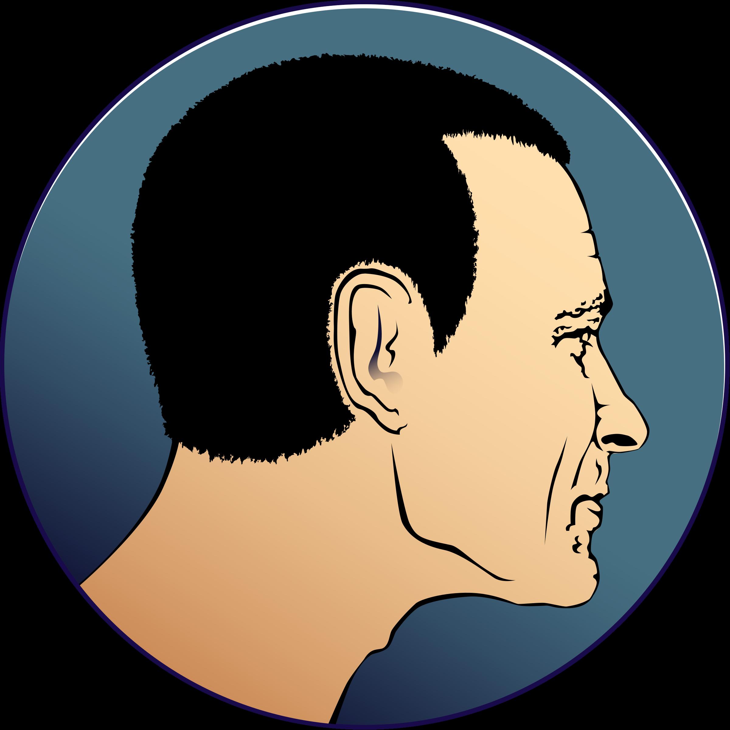 Man s profile big. Clipart ear part head