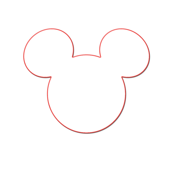 Mickey silhouette clip art. Ears clipart black and white