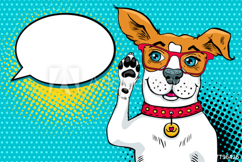 Funny surprised dog in. Clipart ear pop art