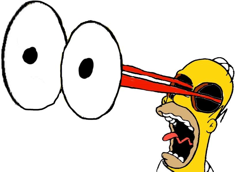Homer simpson s eyes. Clipart ear pop art