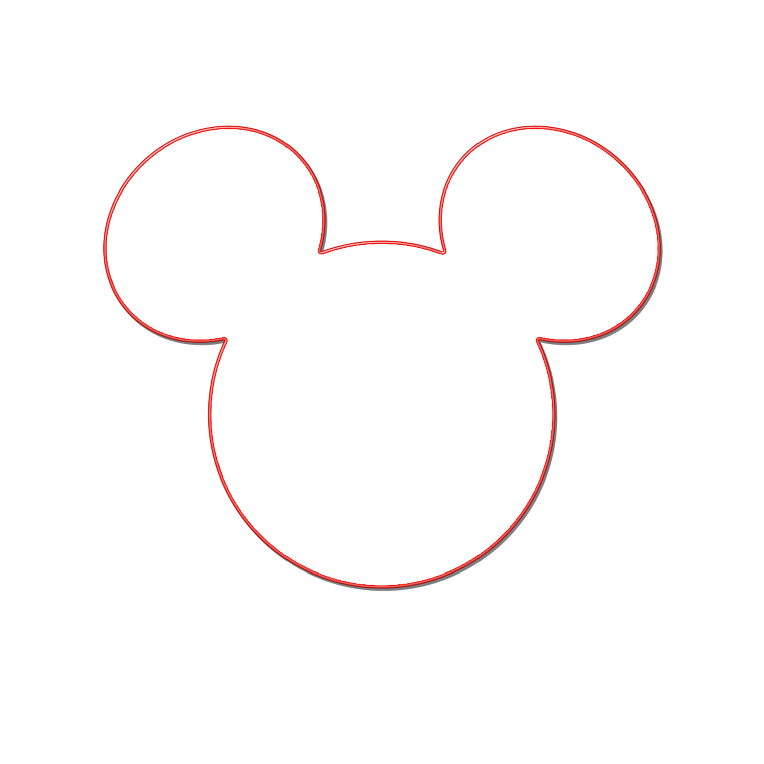Mickey mouse at getdrawings. Ears clipart silhouette
