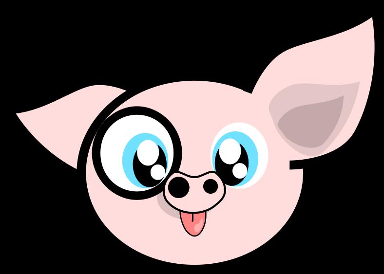 Pig clipart line art. Download clip free cute