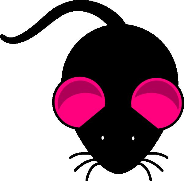 Black mouse pink ears. Ear clipart small ear