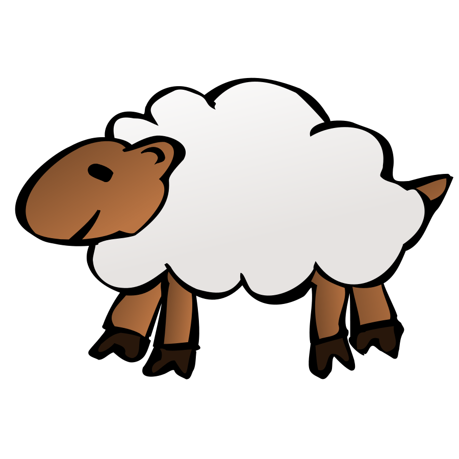 Baby sheep at getdrawings. Clipart goat vintage