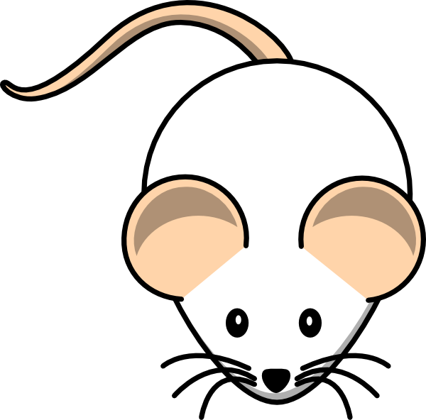 White mouse pink tail. Future clipart clip art