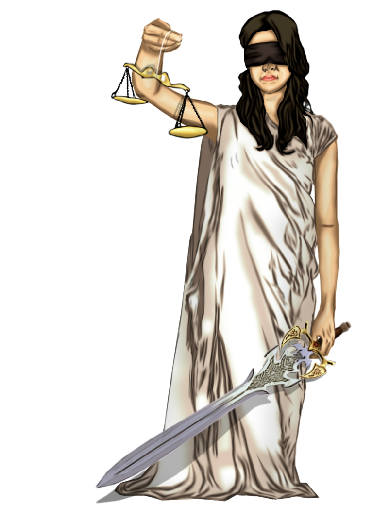 Tall clipart same height. Blind justice clip art