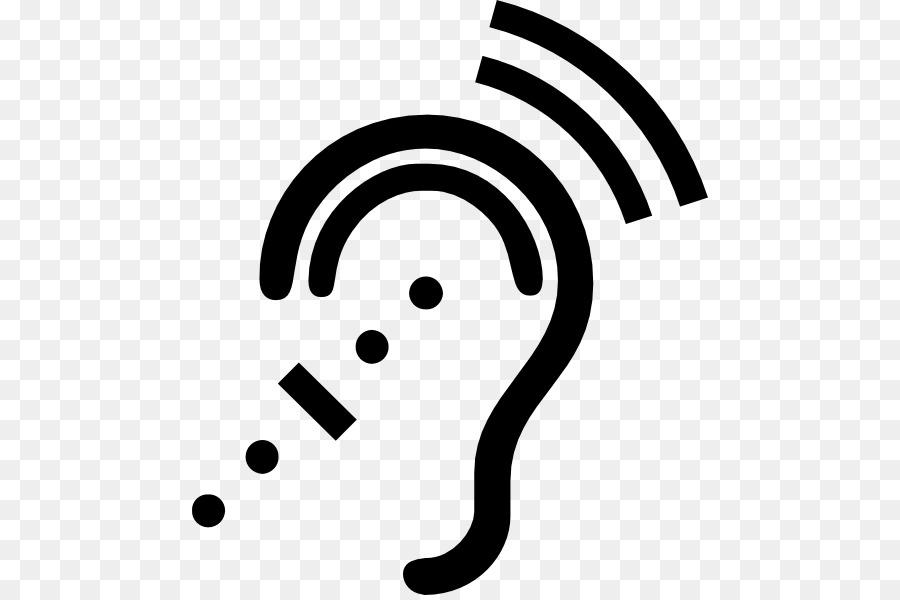 Ear clipart silhouette. Free download clip art
