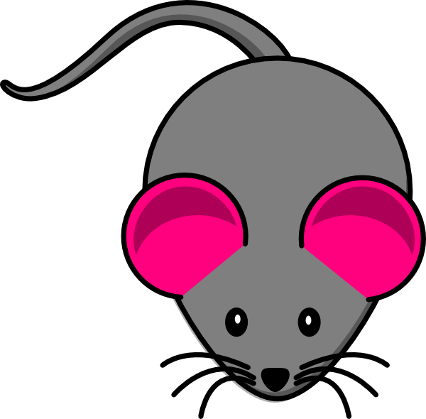 Free clipart ear. Pink gray mouse clip
