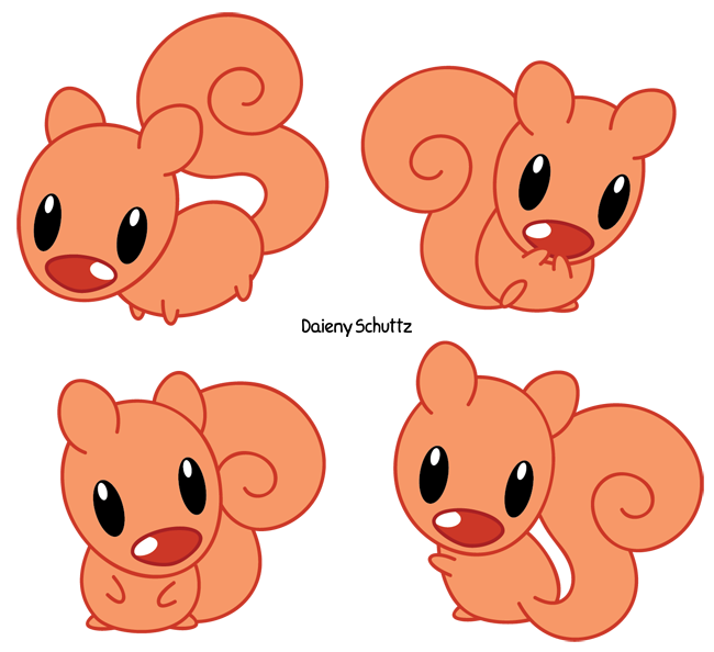 Little red by daieny. Clipart ear squirrel