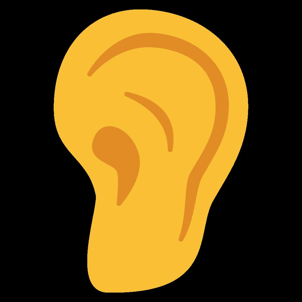 File emoji u f. Clipart ear svg