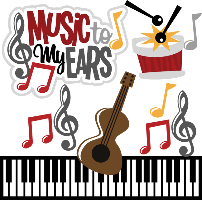 Music to my ears. Clipart ear svg
