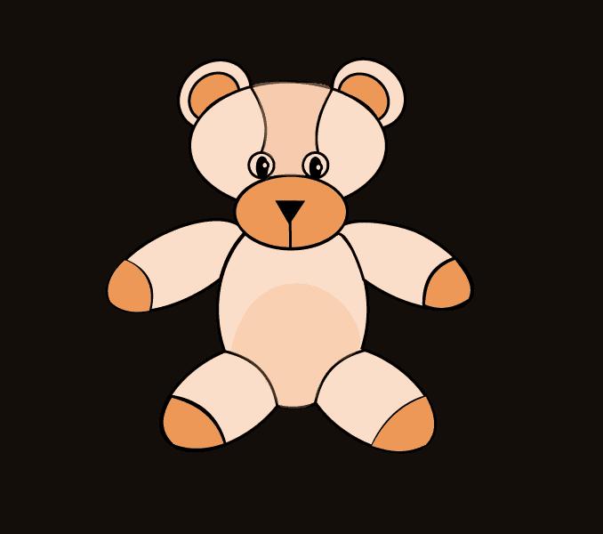 Ears clipart teddy bear. How to draw a