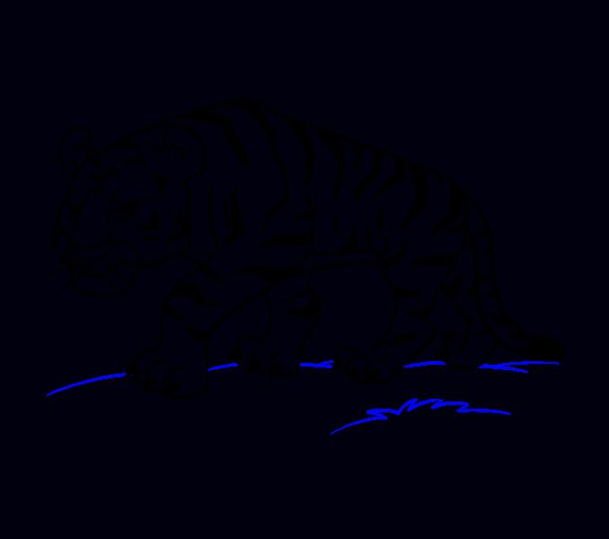 Cartoon drawing at getdrawings. Clipart tiger muscle