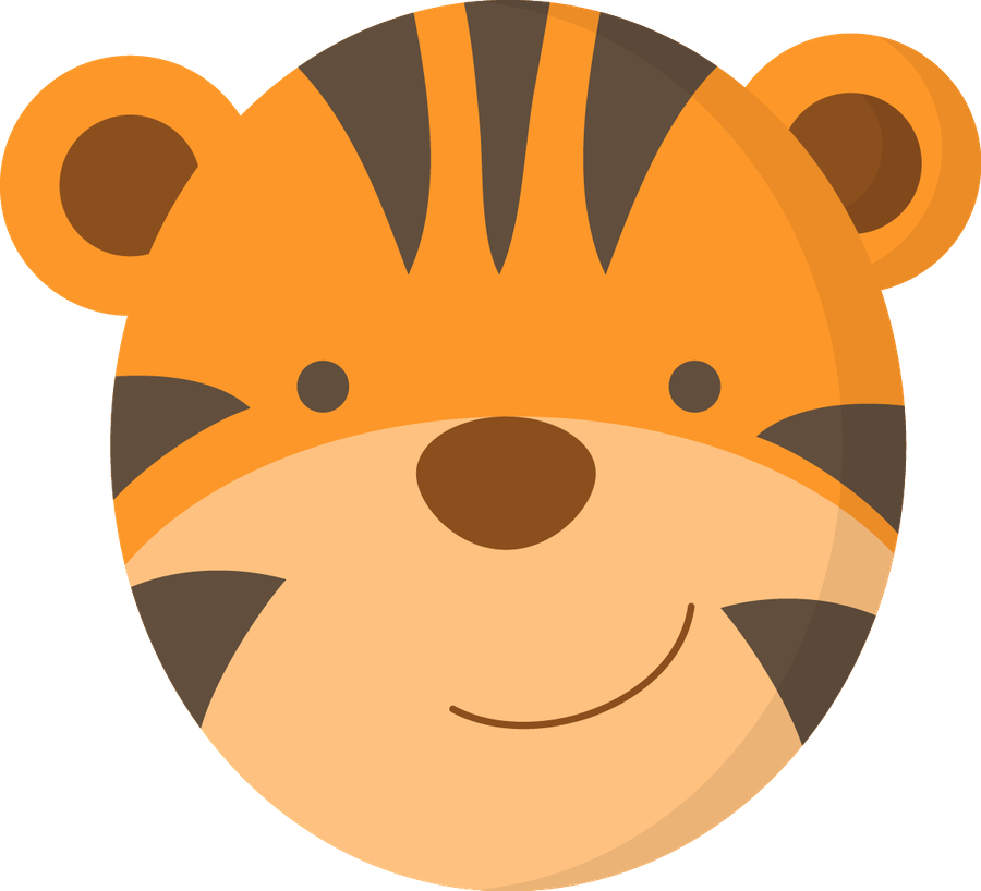 Minus say hello cliparts. Face clipart tiger