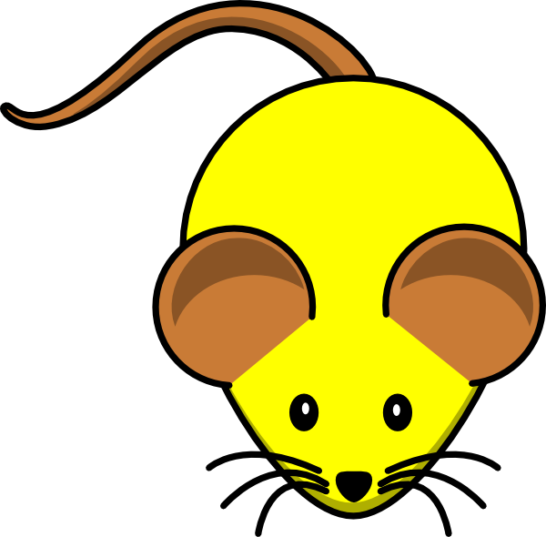 Yellow w brown ears. Clipart mouse laboratory
