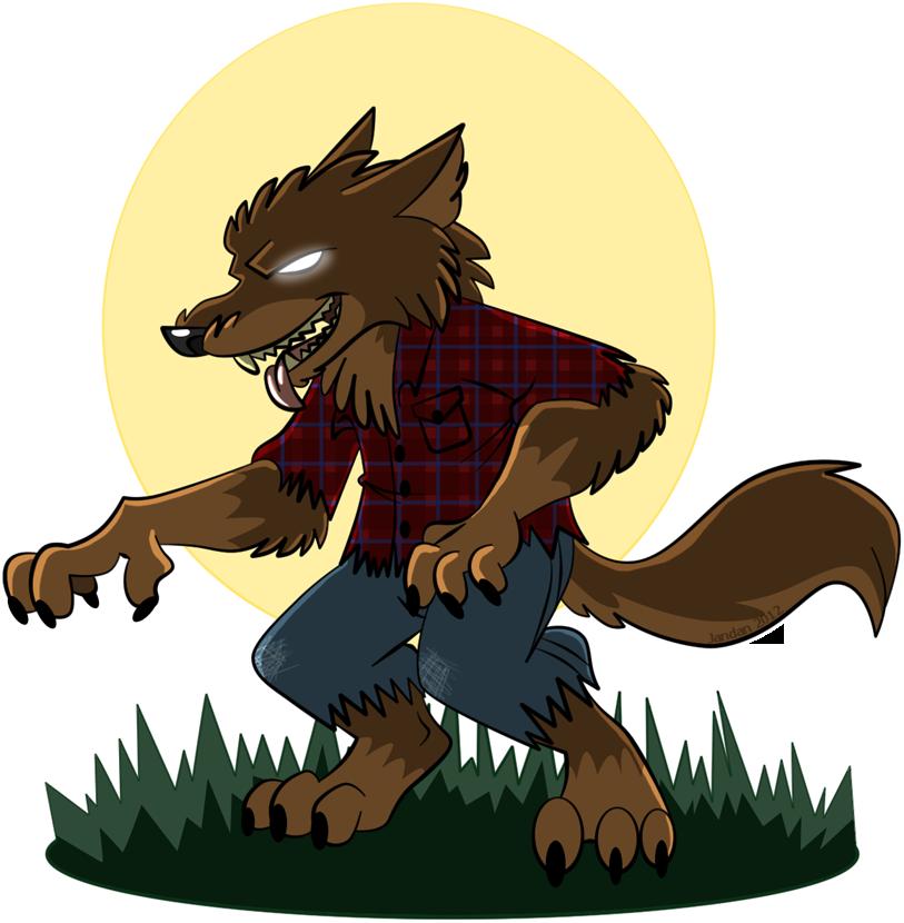 Vampire clipart werewolf. Cartoon tattoo design by