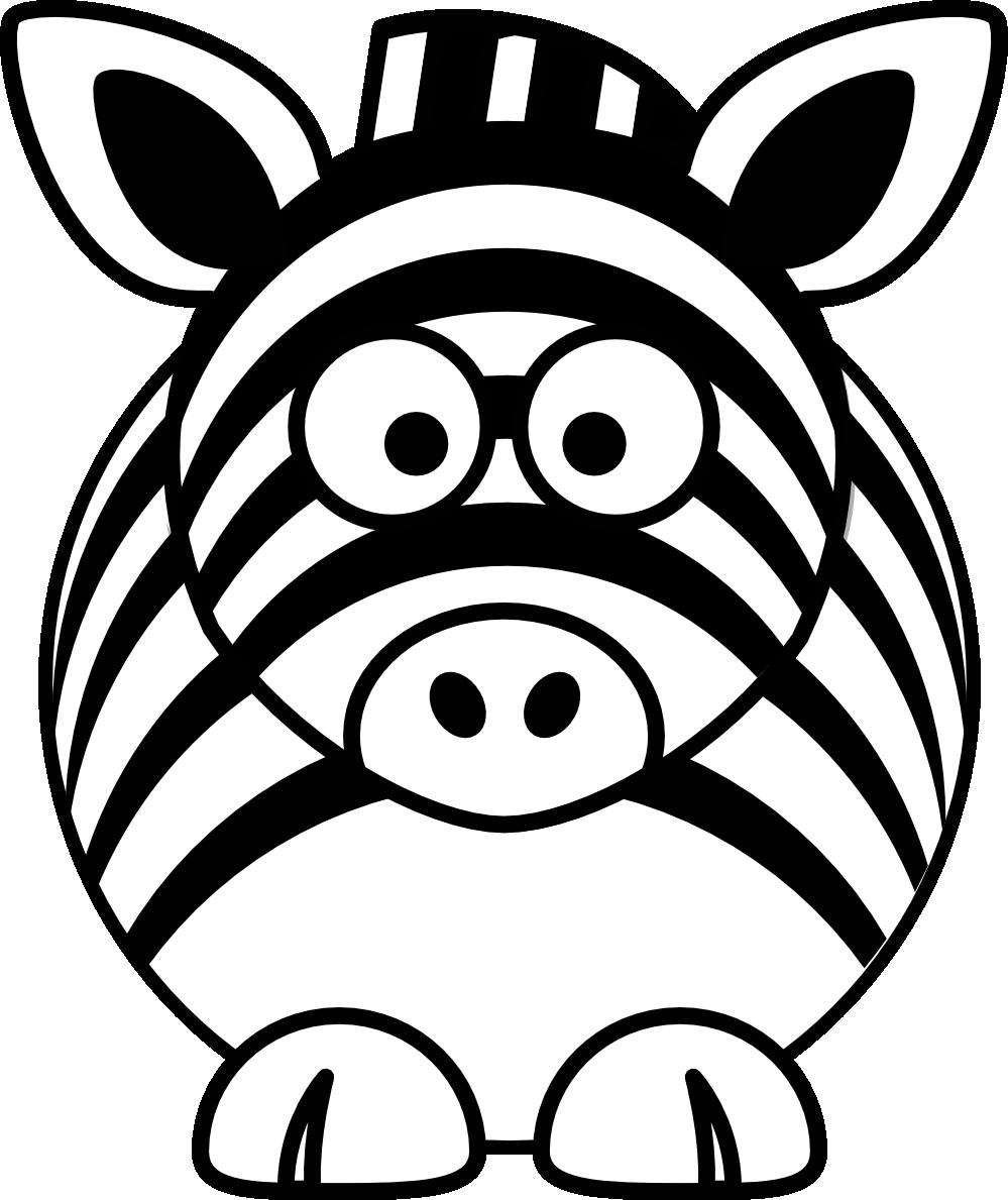 Clipart zebra zebra outline. Head panda free images