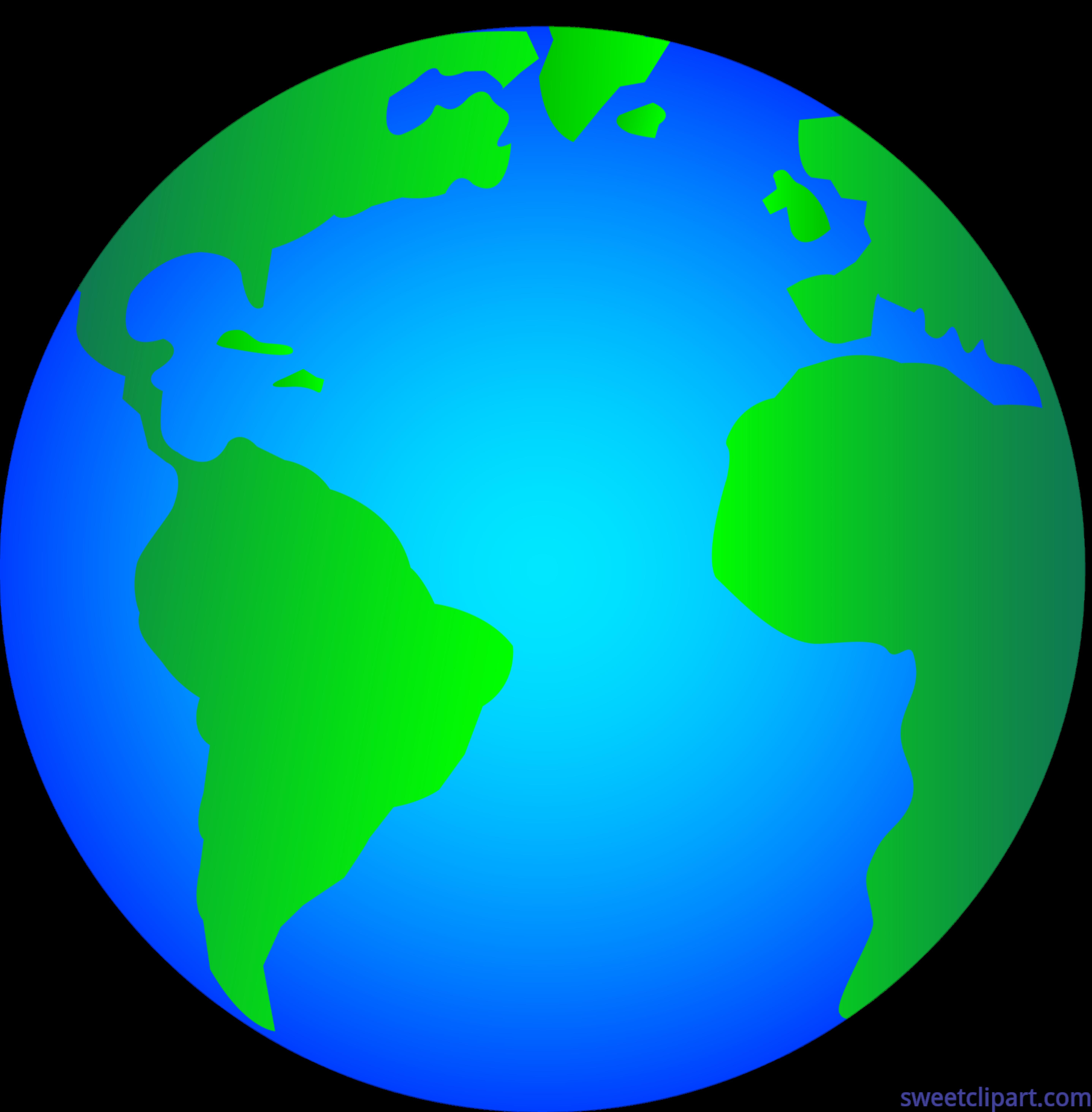 Shiny glossy earth logo. Planets clipart simple