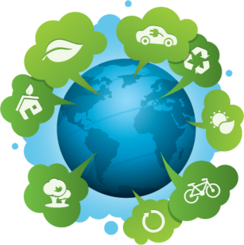 Air quality alerts news. Globe clipart polluted