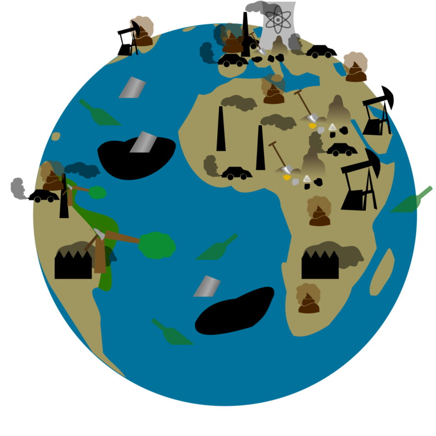 An earth full of. Environment clipart polluting