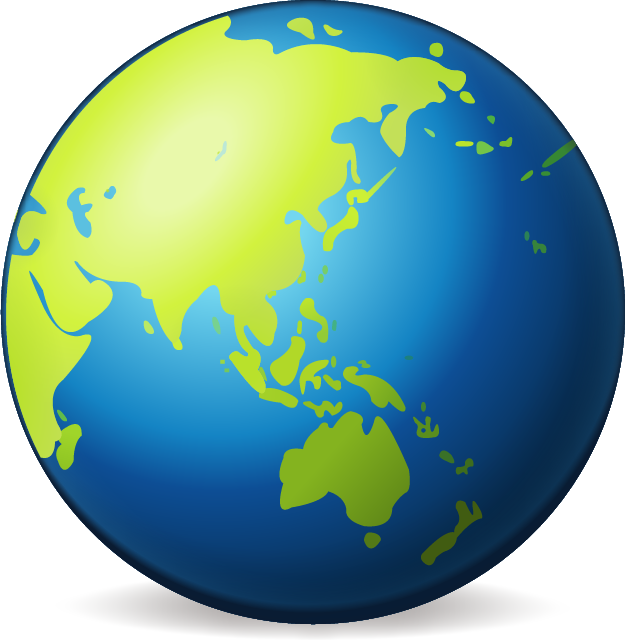 collection of globe. Clipart earth asia