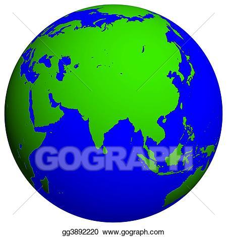 Globe stock illustration gg. Clipart earth asia