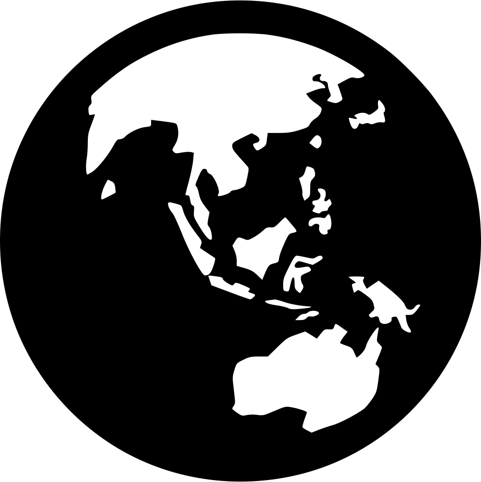 Free icon download continent. Clipart earth asia