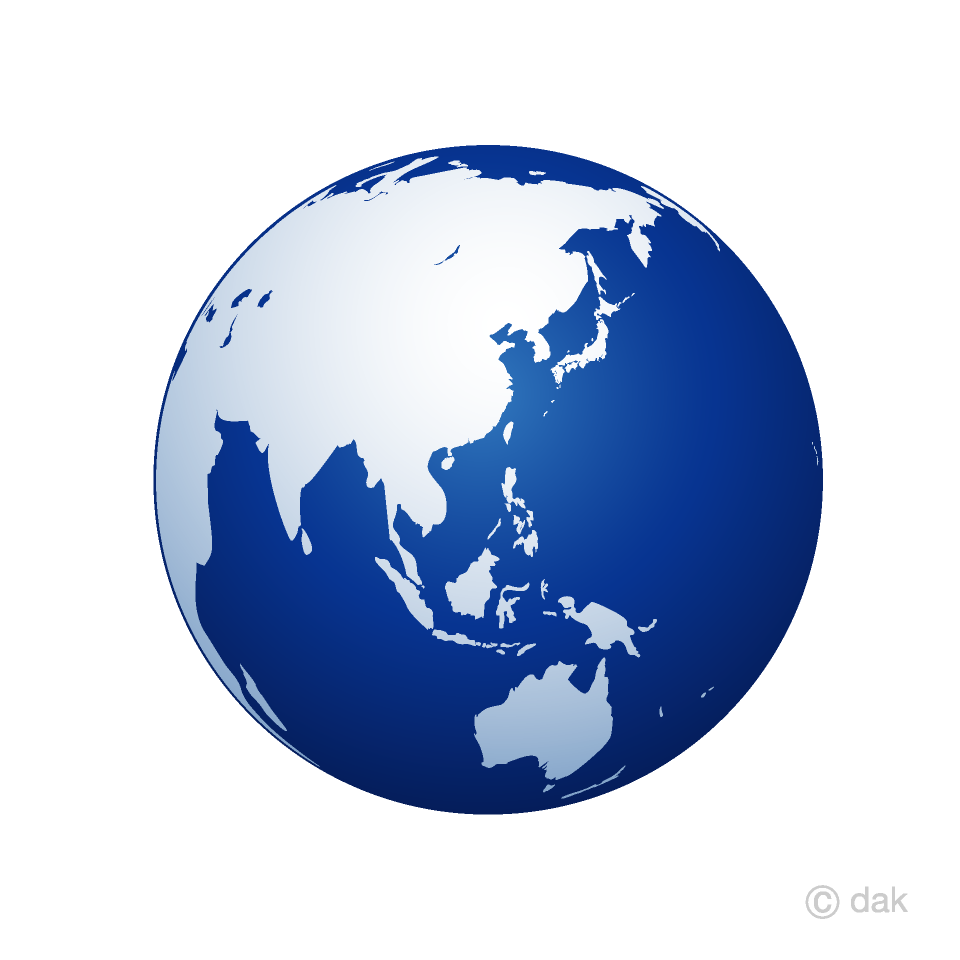 Blue free picture illustoon. Clipart earth asia