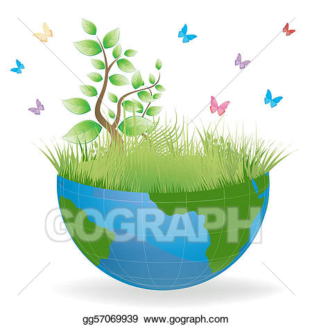 Earth clipart beautiful. Vector art green drawing
