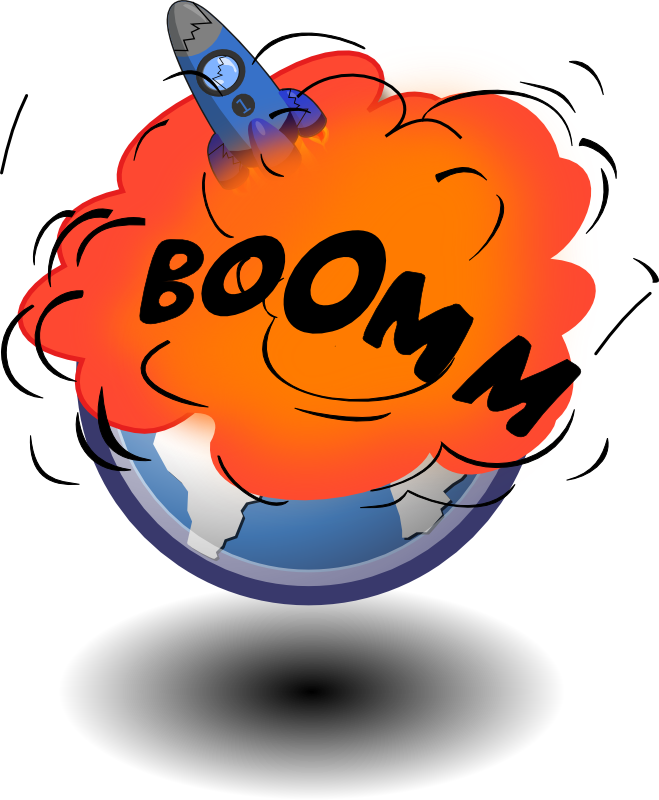 collection of world. Planet clipart explosion