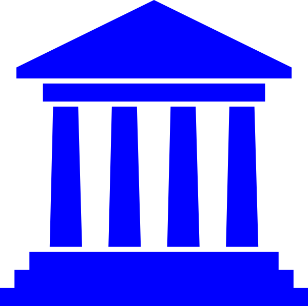 Government building clip art. Courthouse clipart bank branch