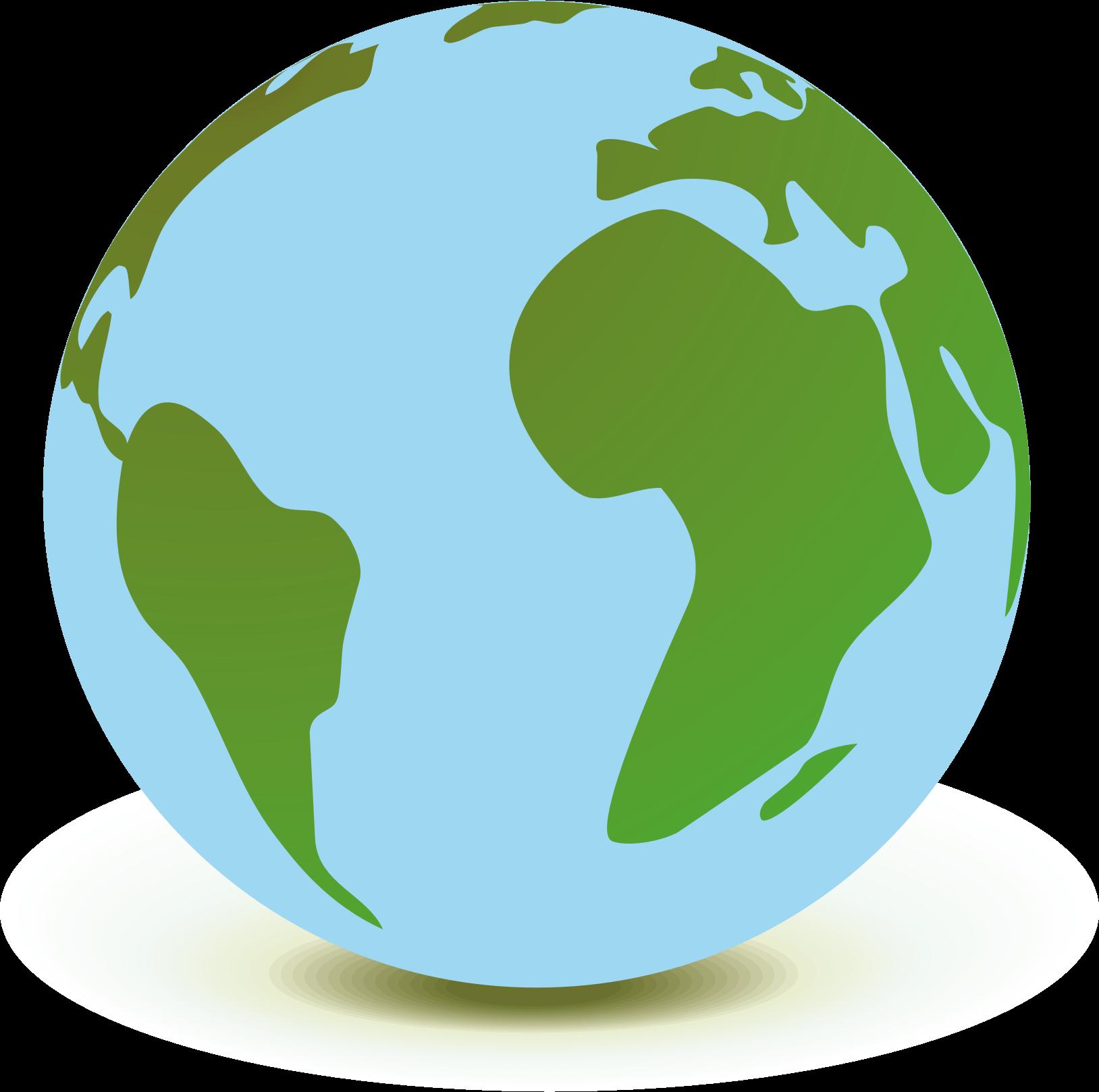 Mappamondo. Clipart world circle