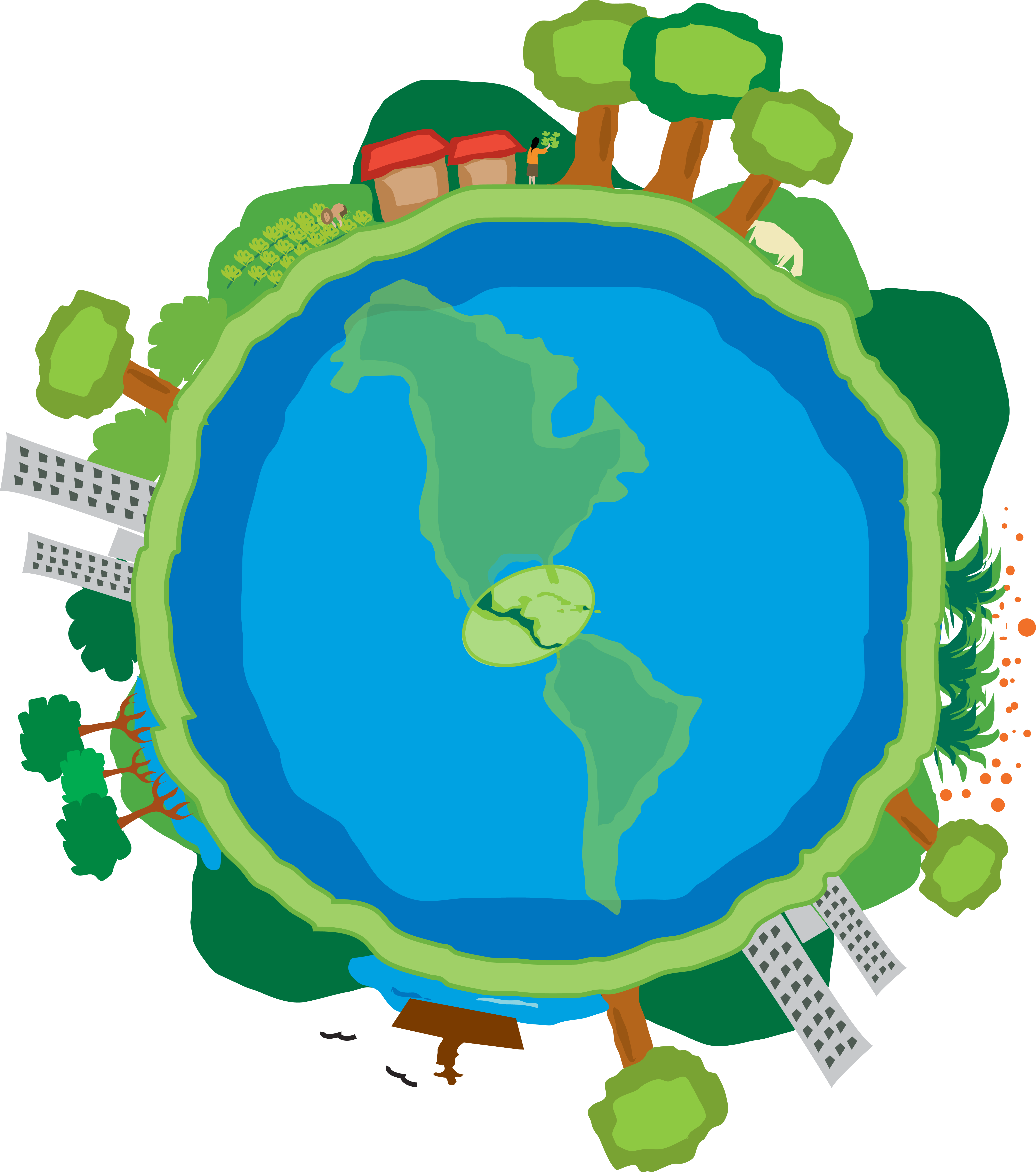Regional program central america. Environment clipart climate change